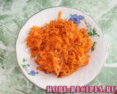Гарнир - острый салат из моркови по-корейски