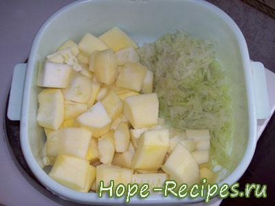 Рецепт овощного рагу с картофелем