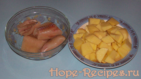 Щука и картофель