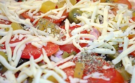 Рыбно-томатная пицца
