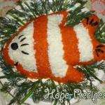 Салат Рыбка на новый год