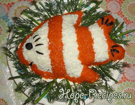 Салат Рыбка
