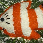 Слоеный салат Рыбка на праздник