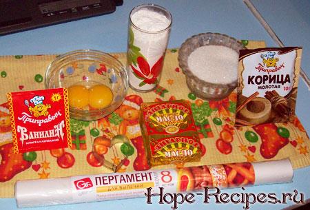 Продукты для приготовления теста на печенье