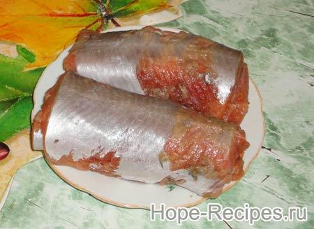 Рулеты из красной рыбы