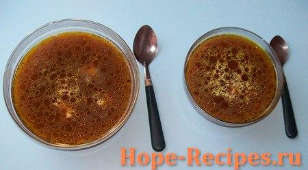 Вегетарианский суп из сушёных белых грибов