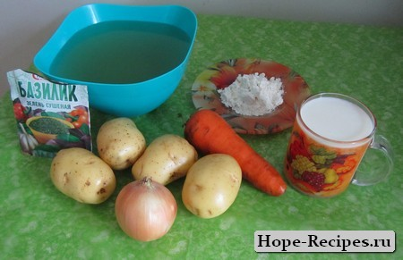 Продукты для варки супа-пюре
