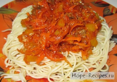 Итальянская паста под соусом