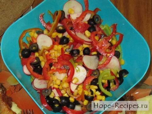 Вкусный Калейдоскоп салат