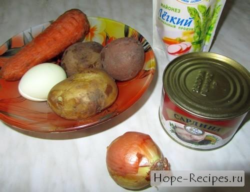 Готовим салат Мимоза по рецепту