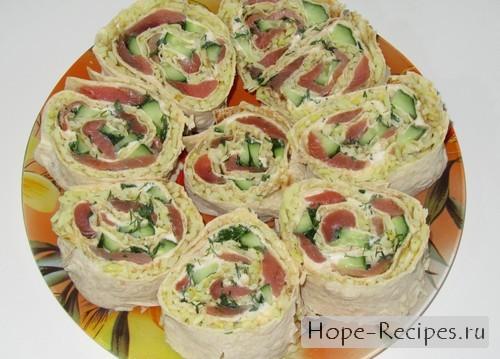 Аппетитные роллы в лаваше
