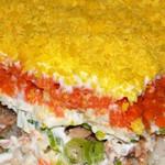 Рецепт салата Мимоза с рыбной консервой