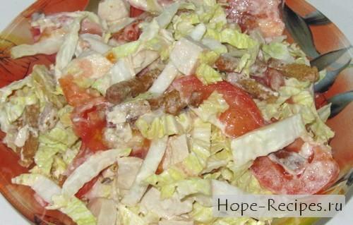 Можно кушать готовый салатик!