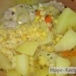 Готовим сытный и вкусный гороховый суп