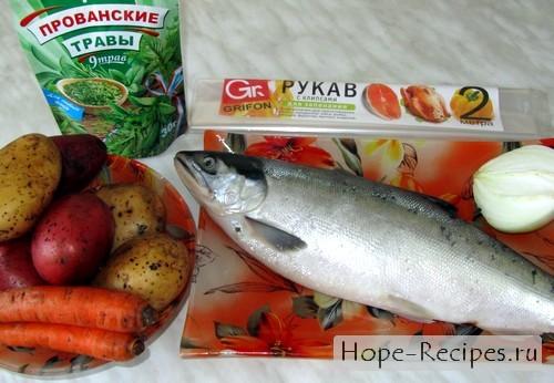 Готовим рыбу запеченную в рукаве