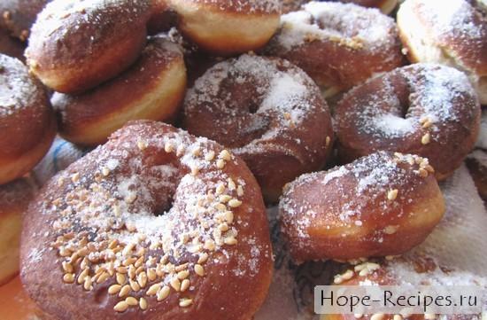 Рецепт аппетитных кунжутных пончиков