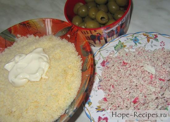 Процесс приготовления закуски