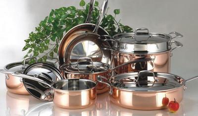 Современная медная посуда