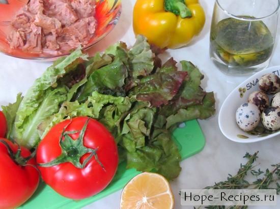Готовим салат с тунцом