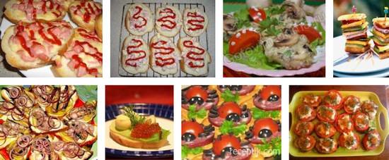 разнообразные бутерброды