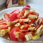 Вкусный салатик со спаржей, неркой, помидорами и перцем