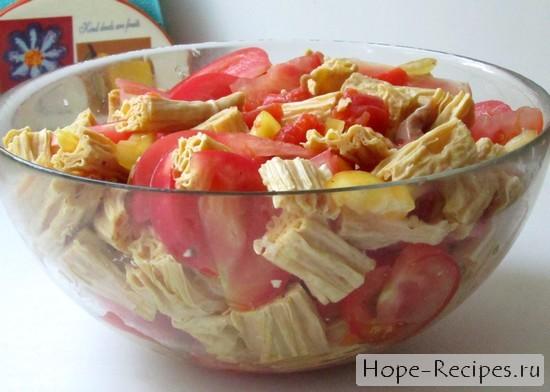 Фоторецепт приготовления салата из спаржи