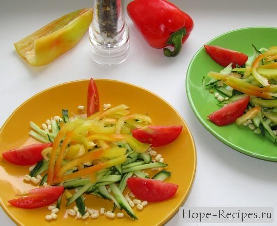 Рецепт полезного и вкусного салата с проростками
