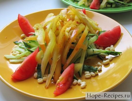 Рецепт салата с простками маша