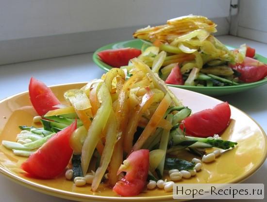 Вкуснейший и полезный салат с проростками маша и овощами