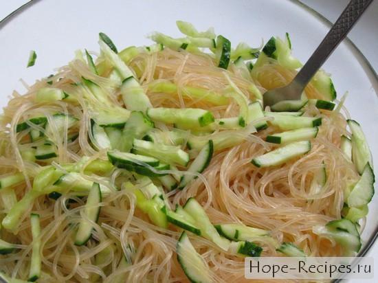 рецепт приготовления фунчозы с овощами