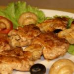 Готовим шашлык из мяса курицы