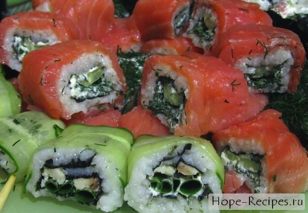Рецепт приготовления японских роллов