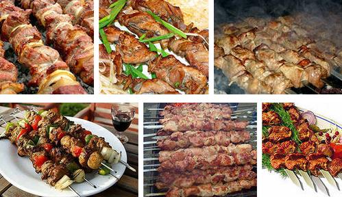 Блюдо из мяса - шашлык по-южному