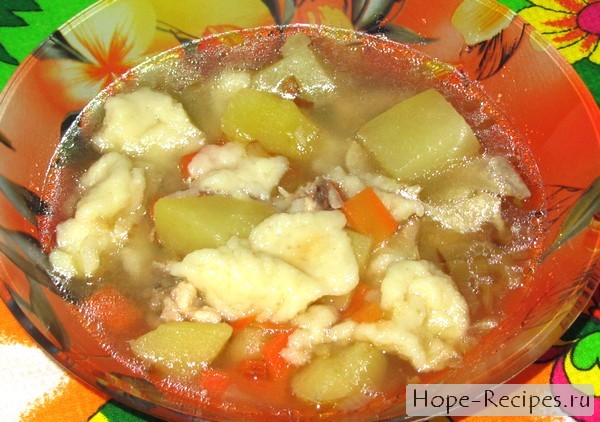 Готовим сытный и простой суп