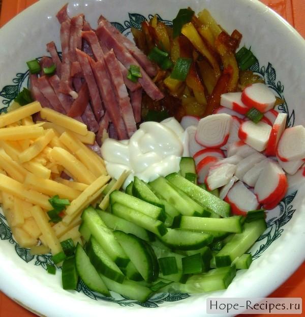 Салат сытный простой рецепт с