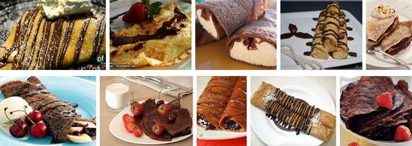 Блинчатый десерт с шоколадом