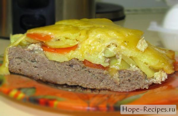 Вкуснейшее горячее блюдо - картофельная запеканка с фаршем