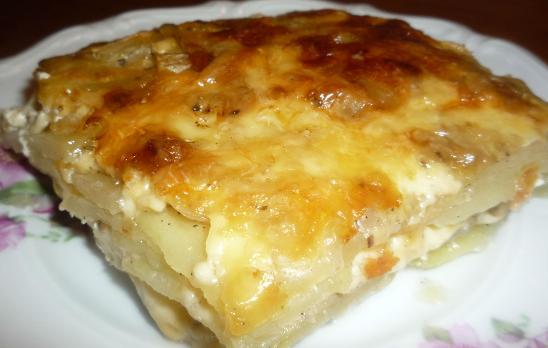 Картофельная запеканка с курятиной