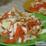 Салат с пекинкой и тунцом