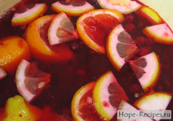Рецепт приготовления безалкогольного глинтвейна