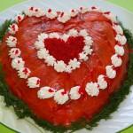 Салат-сердце на день влюбленных