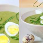 Зеленый простой суп-пюре со шпинатом