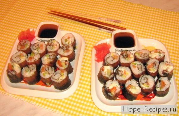 Читаем как приготовить суши дома