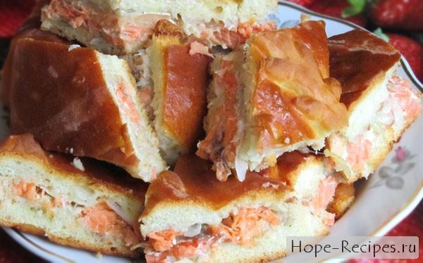 Рыбный пирог из горбуши