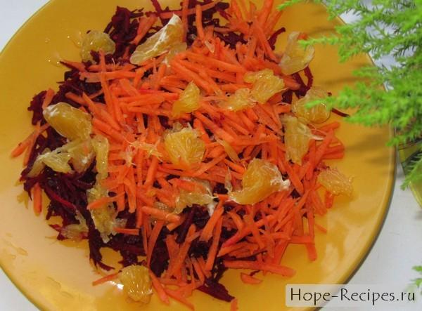 Вкусный и полезный салат со свеклой