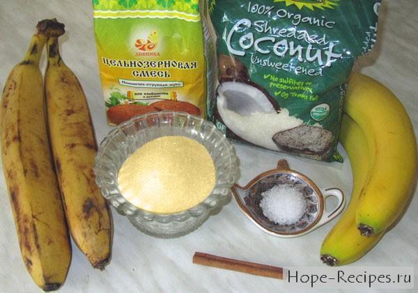 Как испечь банановые блины на воде