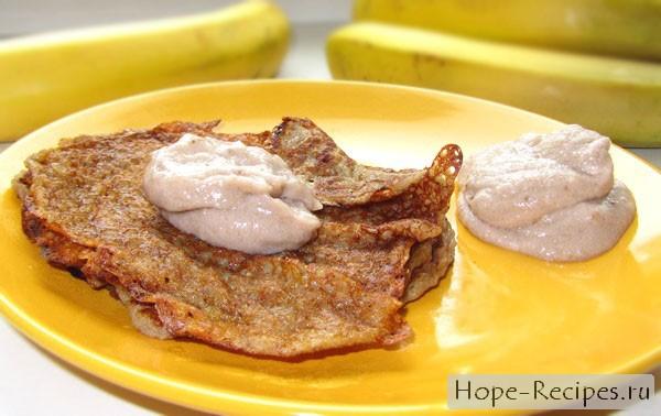 Вкусные банановые блинчики без яиц и молока