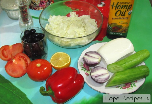 Какие продукты нужны для греческого салата