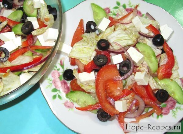 Рецепт греческого салата с фетаксой