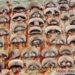 Пицца со свежими грибами